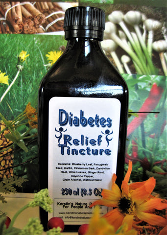 Diabetes Relief Herbal Tincture Extract - Kerstin's Nature Products
