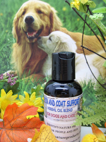 Skin and Coat Support Herbal Oil Blend for Dogs and Cats - Kerstin's Nature Products
