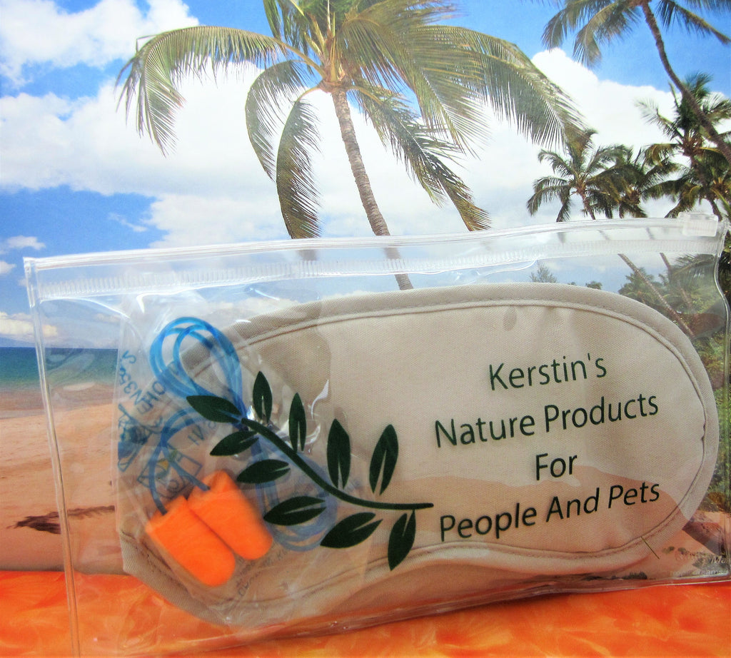 Sleep Eye Mask and Ear Plugs Set - Kerstin's Nature Products