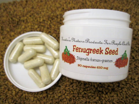 Fenugreek Seed Herbal Capsules, 610 mg, 30 Capsules - Kerstin's Nature Products