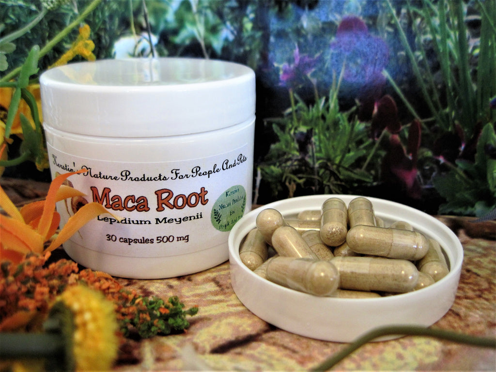 Maca Root 500 mg 30 Capsules - Kerstin's Nature Products