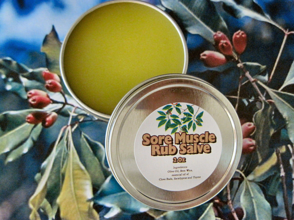 Sore Muscle Rub Salve ~Multiple Sizes - Kerstin's Nature Products
