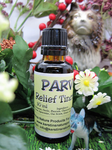 Parvo Relief Herbal Tincture For Dogs/Puppies 1 oz - Kerstin's Nature Products