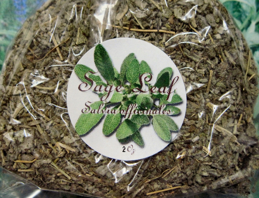 Sage Leaf, Dried Herb, Herbal Tea ~Multiple Sizes - Kerstin's Nature Products
