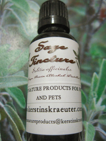Sage Leaf Herbal Tincture ~ Multiple Sizes - Kerstin's Nature Products