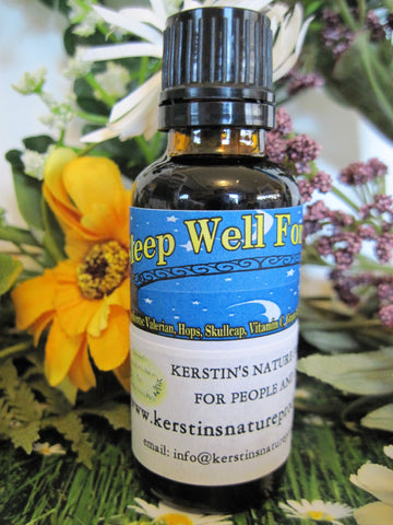 Sleep Well  Formula Tincture - Kerstin's Nature Products