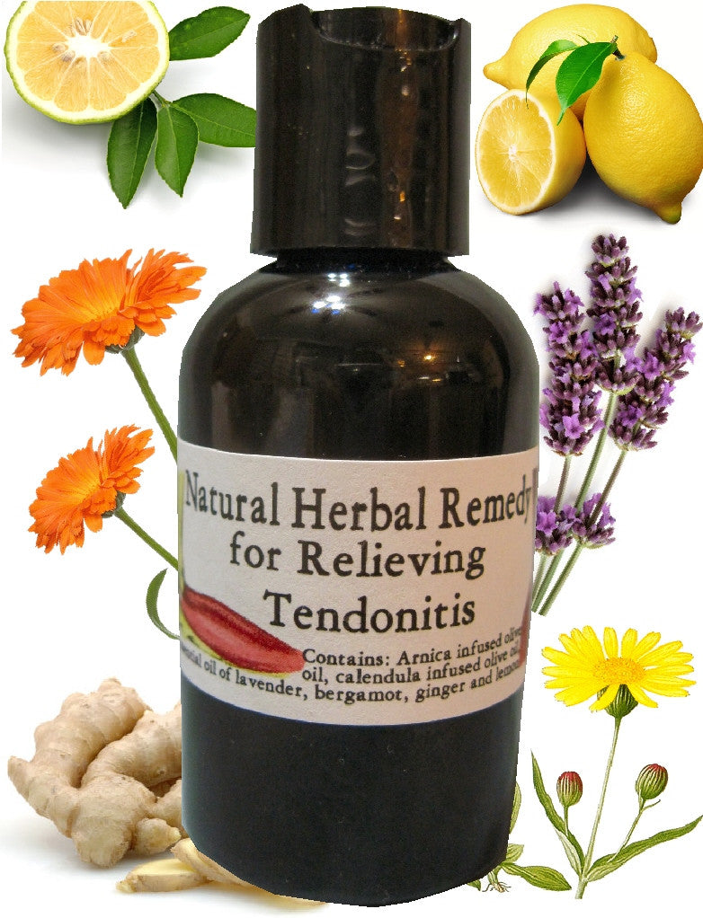 Natural Herbal Tendonitis Relief Oil Blend ~Multiple Sizes - Kerstin's Nature Products