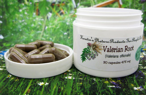 Valerian Root (Valeriana officinalis) 475 mg 30 Capsules - Kerstin's Nature Products