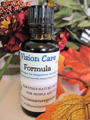 Vision Care Formula Herbal Tincture - Kerstin's Nature Products
