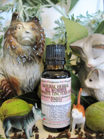 Natural Herbal All Wormer And Parasite Tincture For Pets 1 oz - Kerstin's Nature Products