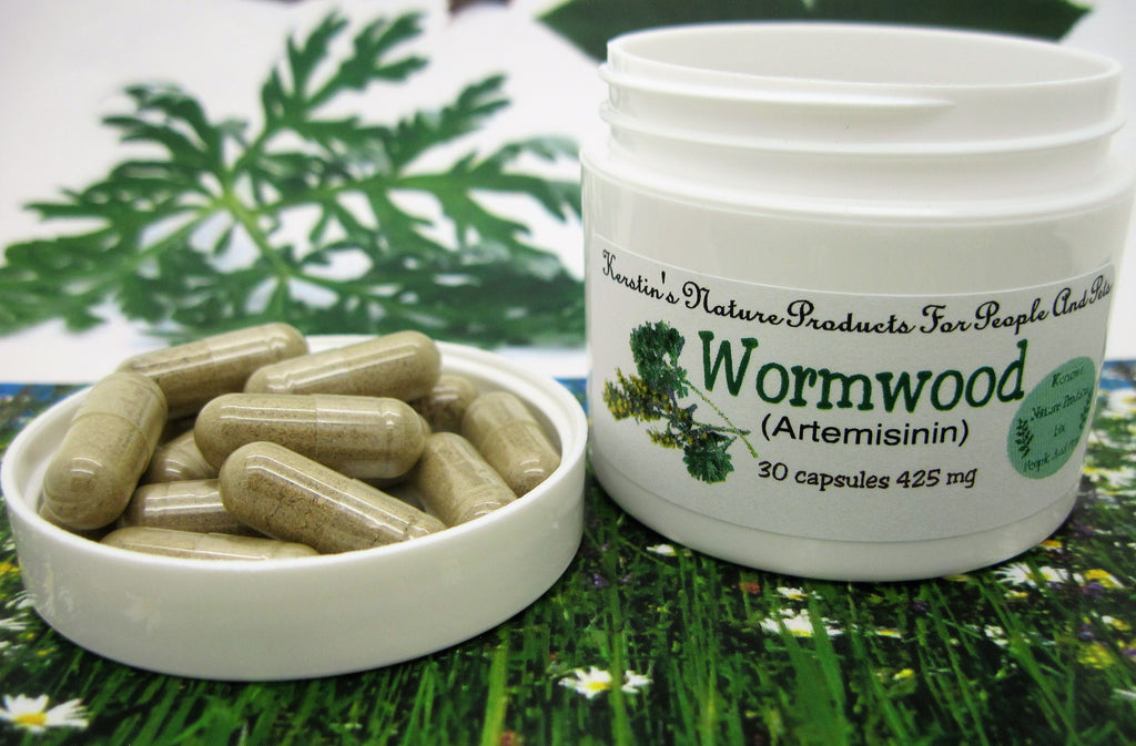 Wormwood (Artemisinin)  425 mg 30 Capsules - Kerstin's Nature Products