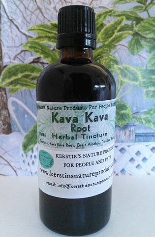 Kava Kava Root Herbal Tincture Extract ~ Multiple Sizes - Kerstin's Nature Products