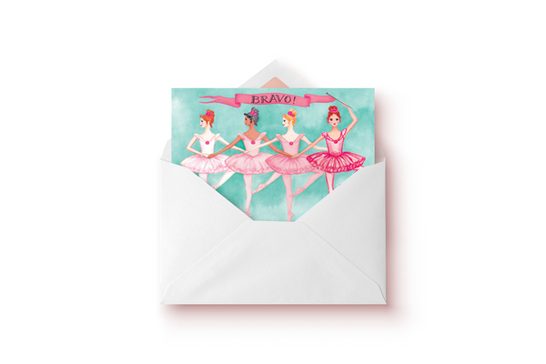 Bravo Ballerinas Card