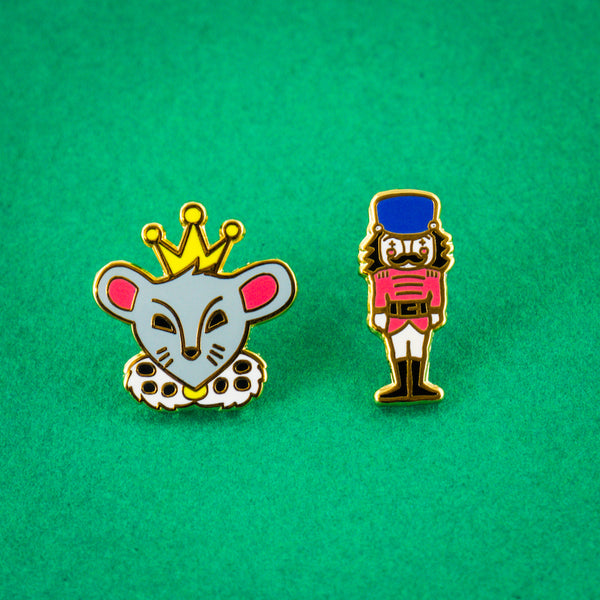 Nutcracker Enamel Pin Duo: this set is a perfect ballet recital gift