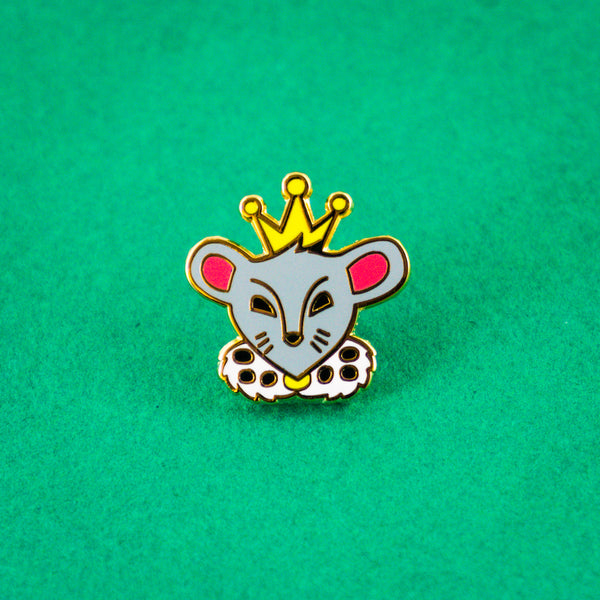 Mouse King Enamel Pin