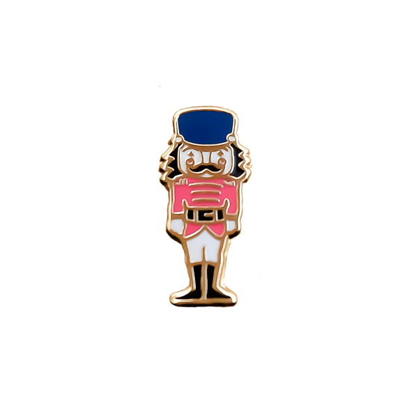 Nutcracker Doll Enamel Pin