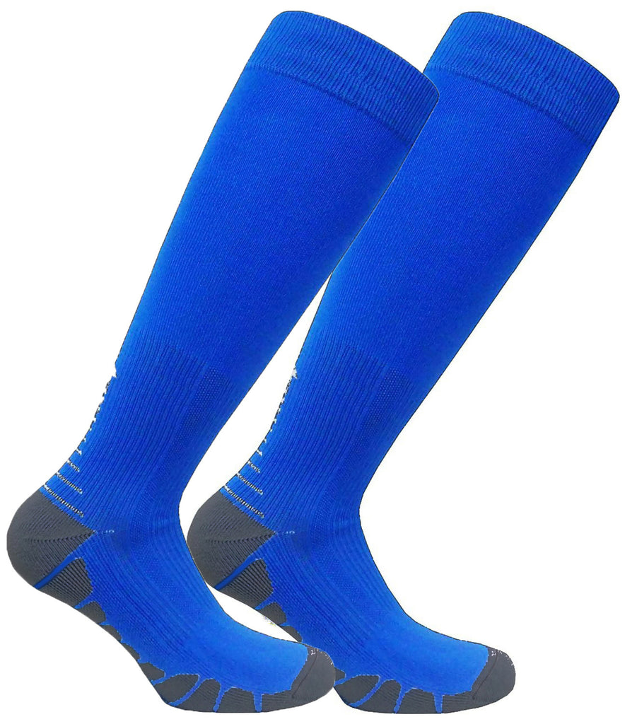 FDX Plus Size/Big & Tall Cushioned Compression Socks (Blue/Gray) - Plus Size Socks – FitDio