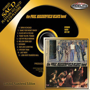 Paul Butterfield Blues Band - Paul Butterfield, SACD Limted Edition Numbered