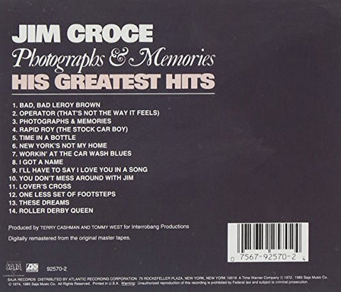 Photographs Memories His Greatest Hits Jim Croce Cd Pre Owned