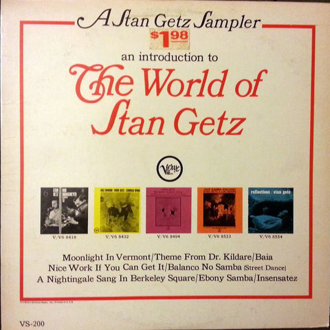 A Stan Getz Sampler: An Introduction To The World Of Stan Getz - Stan Getz, LP (Pre-Owned)