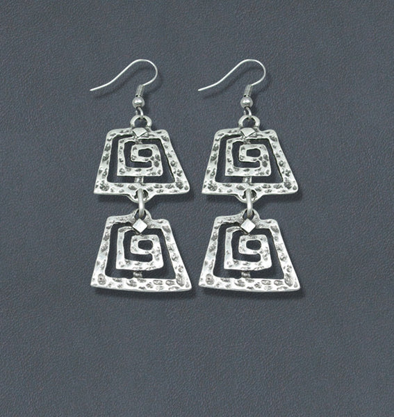 Reflections Silver Bohemian Fashion Earrings