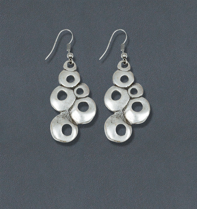 Froth Silver Bohemian Fashion Earrings