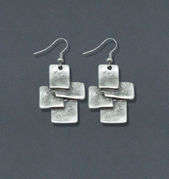 Mod Silver Bohemian Fashion Earring
