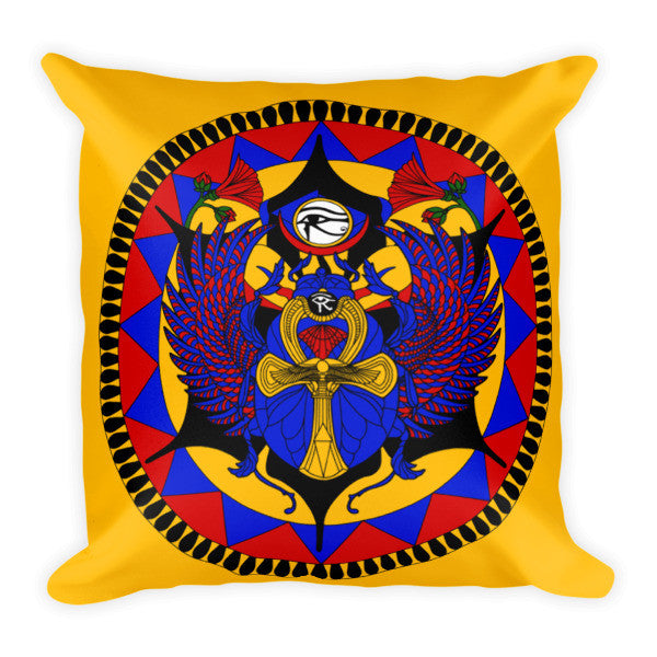 Egyptian Scarab Pillow