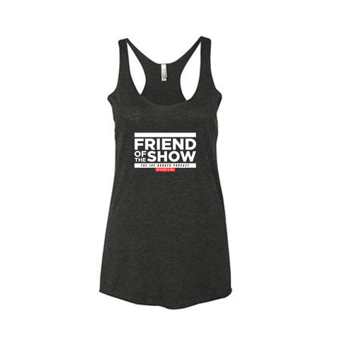Friend of the Show Women's Tri Blend Racer Back Tank - Vintage Black