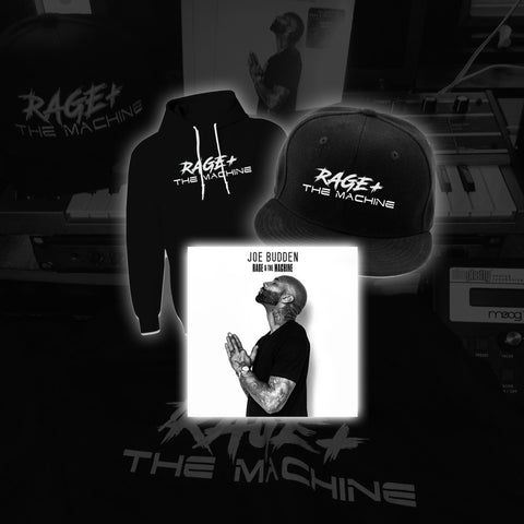 RAGE + THE MACHINE HOODIE, HAT & SIGNED CD BUNDLE