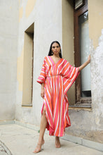 Load image into Gallery viewer, Striped Kaftan Dress