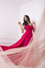 Load image into Gallery viewer, Two Tone Red and Pink Ball Gown