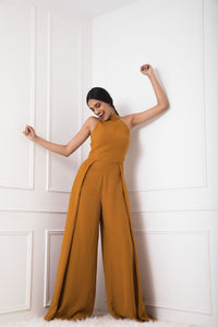 Mustard Pleated Jumpsuit