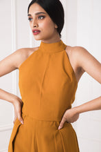 Load image into Gallery viewer, Mustard Pleated Jumpsuit
