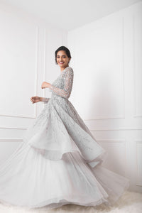 Grey Bridal Couture Gown