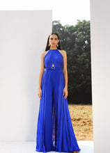 Load image into Gallery viewer, Royal Blue Draped Jumpsuit with Belt
