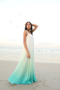 Mint ombre chiffon gown