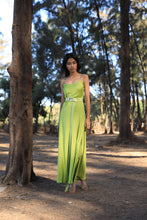 Load image into Gallery viewer, Citrus slip dress with chain straps and a belt