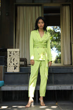 Load image into Gallery viewer, Citrus satin twill blazer and pant set