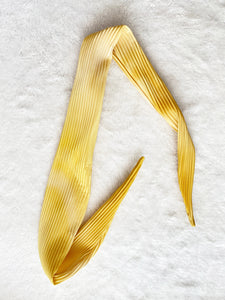 Pleated Head Scarf - Yellow