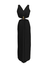 Load image into Gallery viewer, Draped Cutout Gown with Signature Zwaan Buckle