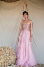 Load image into Gallery viewer, Pink Line embellished Tube Gown