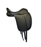 The Ultimate Friesian Saddle with Adjustable Tree (White Piping)