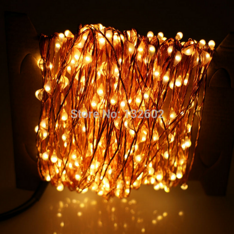 30m 300 LED Outdoor Fairy Lights Warm White Copper Wire LED String Lights Starry Light+Power Adapter