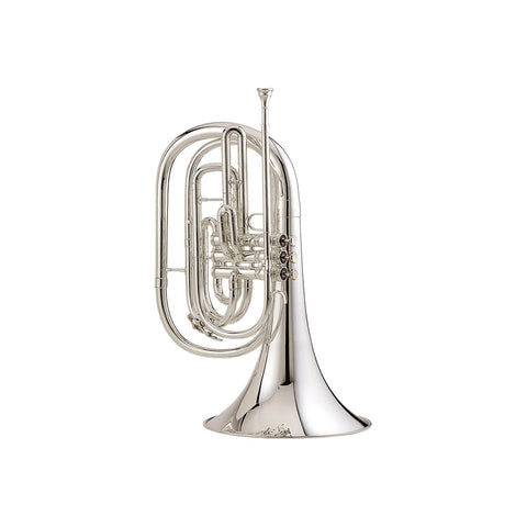 King Professional Ultimate Marching French Horn Silver Plated, Outfit