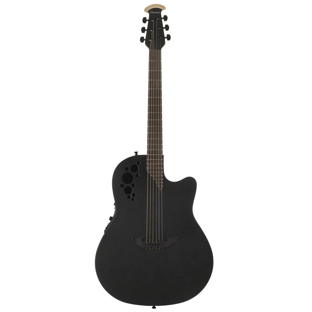 Ovation MOD TX Mid Depth, Black Textured Acoustic Electric Guitar