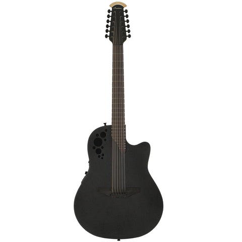 Ovation MOD TX 12-String Acoustic Electric Guitar, Texture Black
