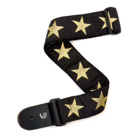 Planet Waves Woven Guitar Strap, Gold Star