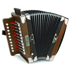 Hohner Diatonic Accordion Ariette One-Row, Key of C, Dark Brown