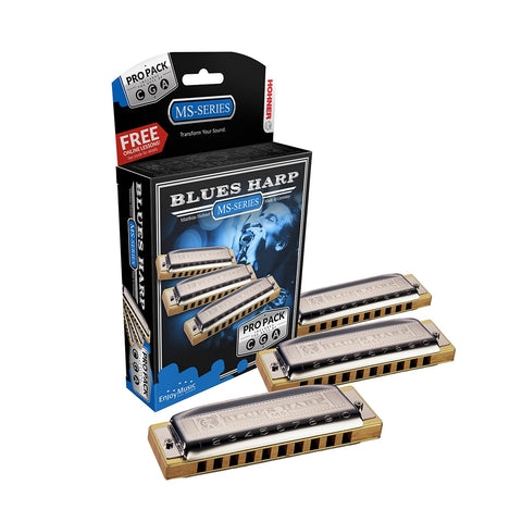 Hohner Blues Harp Pro Harmonica 3-Pack Keys of G, C, A